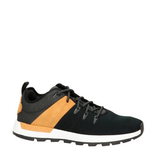 Timberland Sprint Trekker leren sneakers zwart/bru