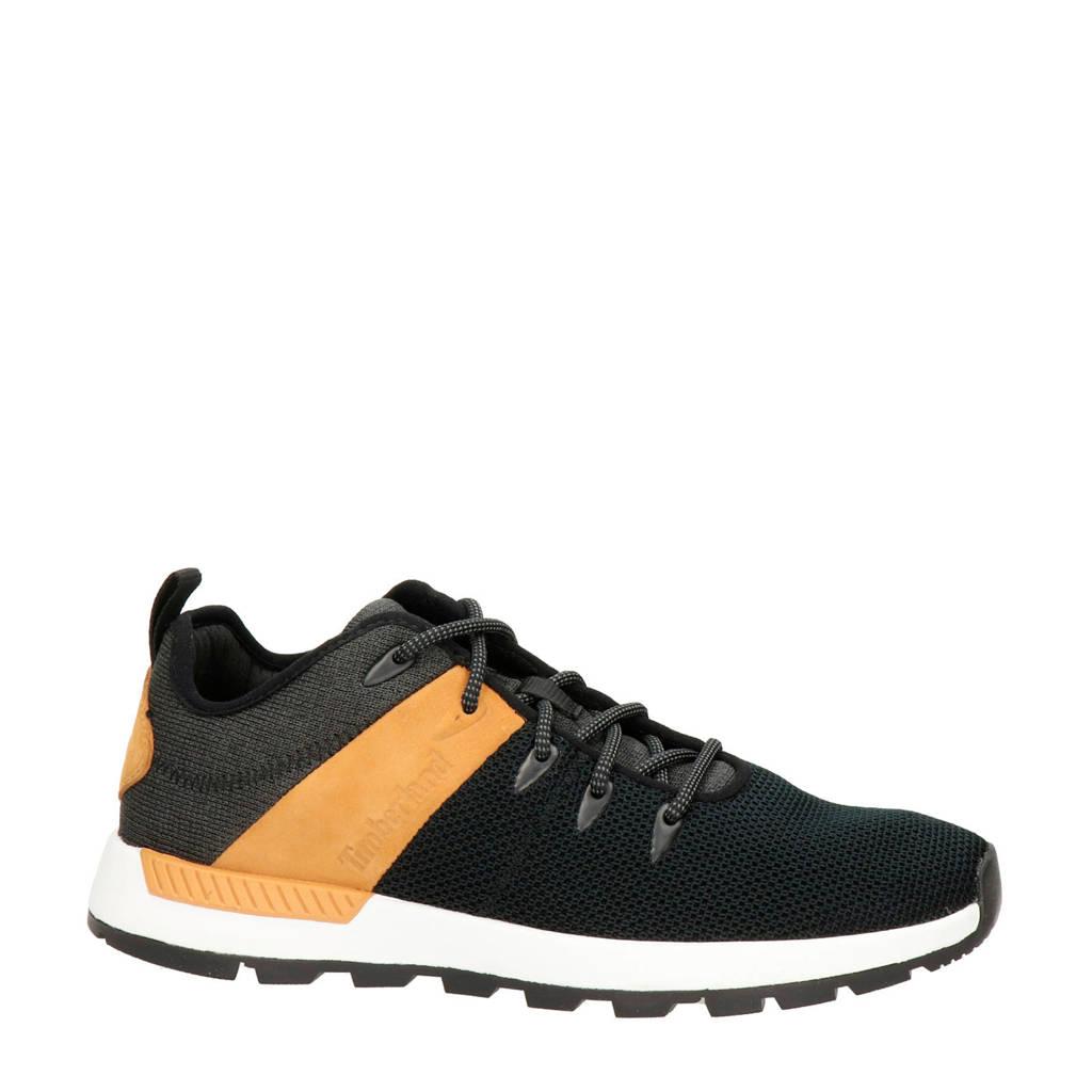 Timberland Sprint Trekker  leren sneakers zwart/bruin, Zwart/bruin