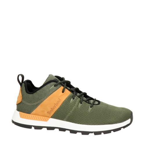 Timberland Sprint Trekker leren sneakers kaki/brui