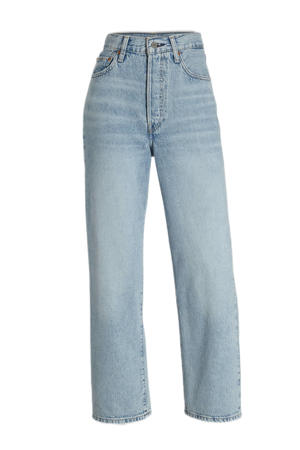 RIBCAGE high waist straight fit jeans middle road