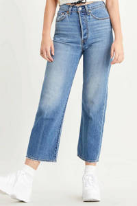 Levi's Ribcage cropped high waist straight fit jeans blauw, Blauw