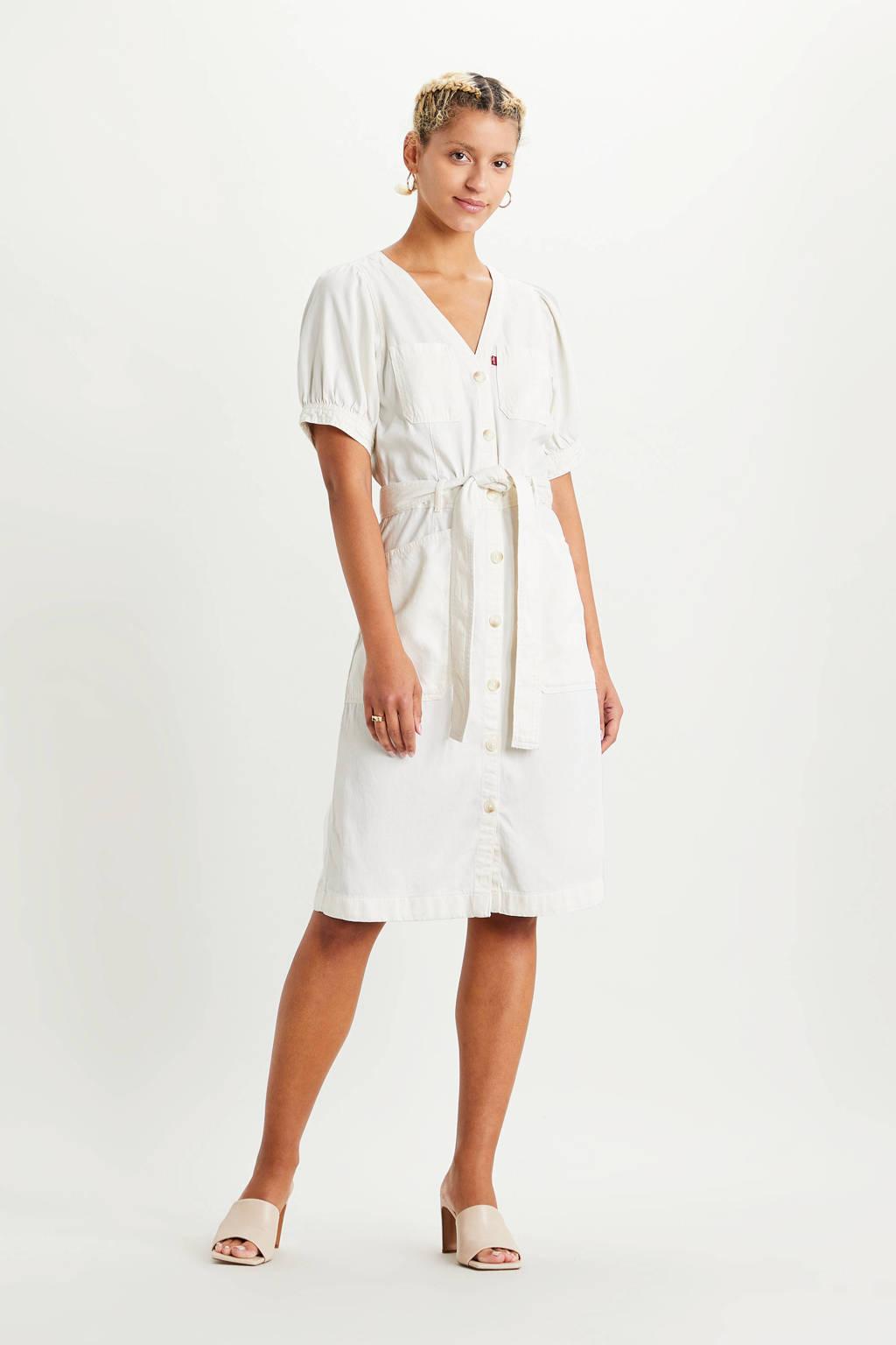 Levi's jurk Bryn met ceintuur off white, Off White
