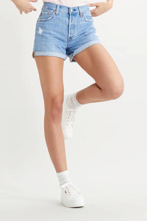 501® high waist jeans short sansome midday
