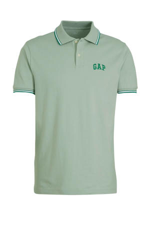 slim fit polo mintgroen/groen