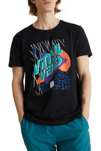 edc Men T-shirt met printopdruk zwart, Zwart