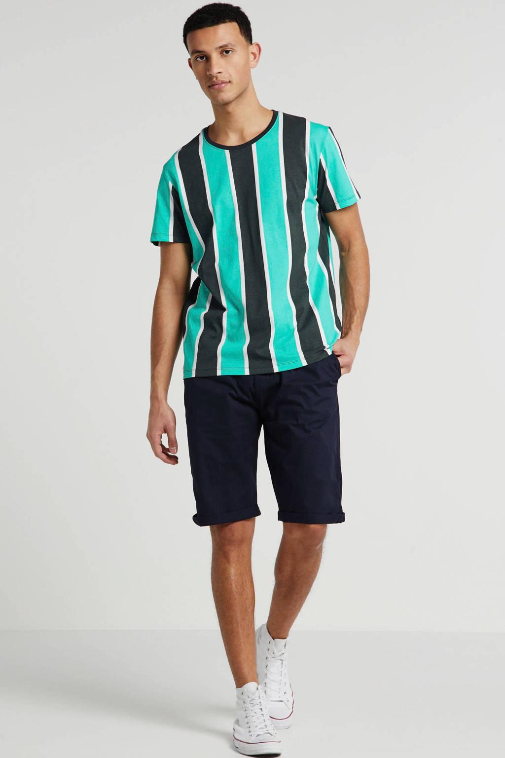edc Men gestreept T-shirt groen, Groen
