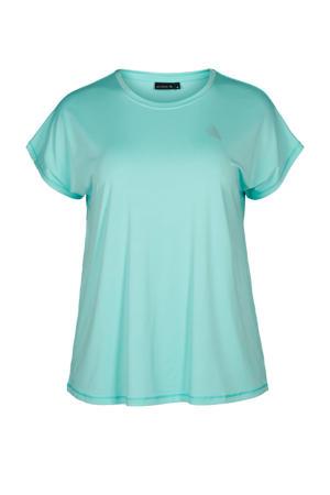 Plus Size sport T-shirt lichtblauw