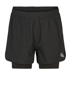 Plus Size 2-in-1 sportshort zwart