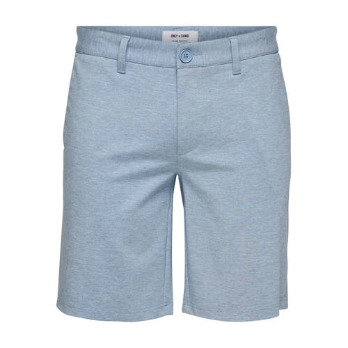 ONLY & SONS slim fit bermuda blauw