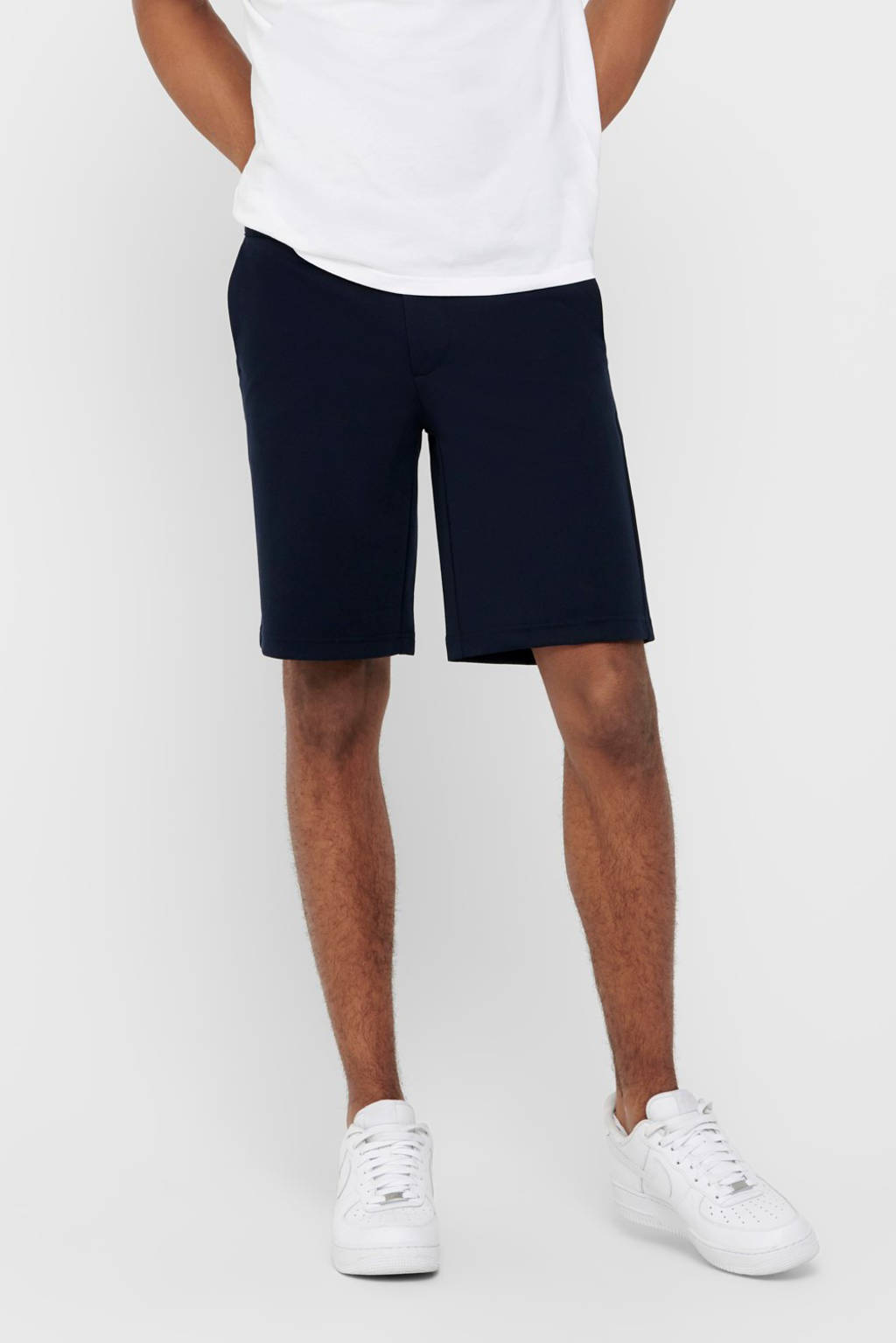 ONLY & SONS regular fit bermuda donkerblauw, Donkerblauw