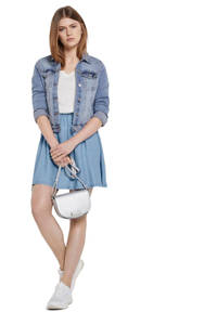 Tom Tailor Denim A-lijn rok met plooien light denim, Light denim