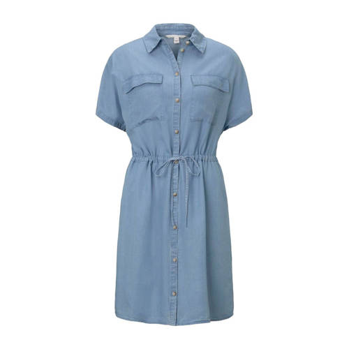 Tom Tailor Denim blousejurk chambray utility shirt dress lichtblauw