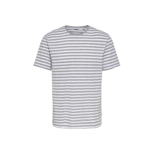 ONLY & SONS gestreept T-shirt wit