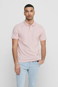 ONLY & SONS slim fit polo Stan roze, Roze