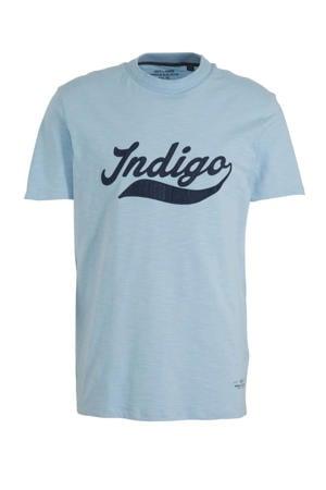 T-shirt Jprweston met tekst blauw