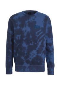 JACK & JONES PREMIUM dip-dye sweater Jprmiles donkerblauw/blauw, Donkerblauw/blauw