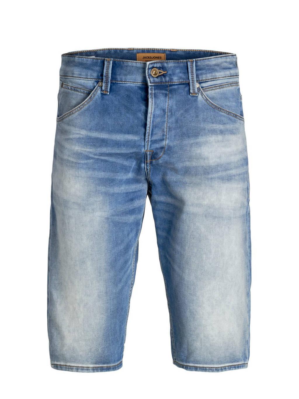 JACK & JONES PLUS SIZE regular fit jeans short Rex blauw, Blauw