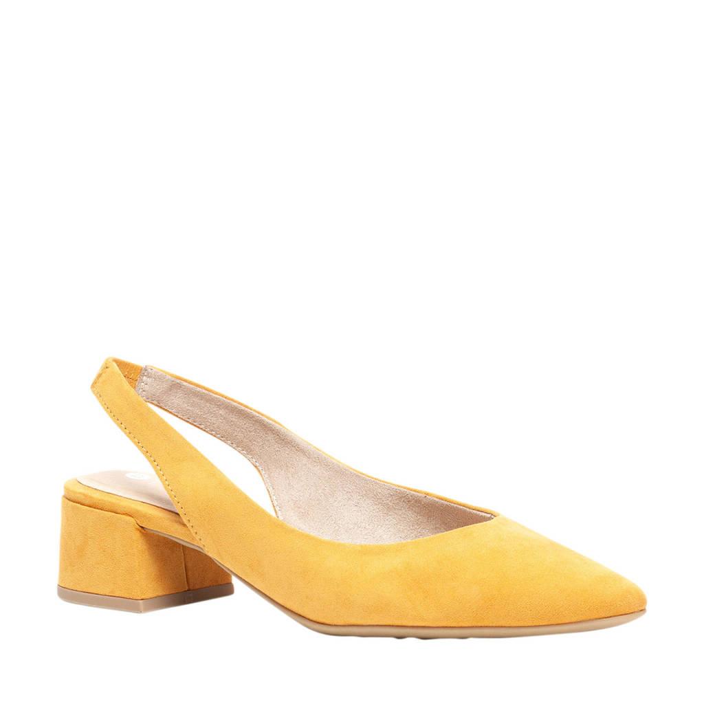 Scapino Nova   slingbacks pumps geel, Geel
