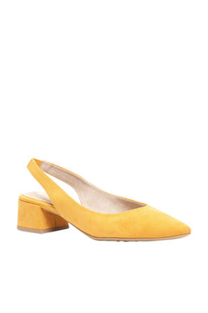 slingbacks pumps geel