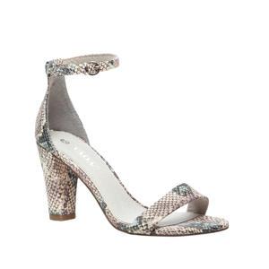 sandalettes slangenprint beige