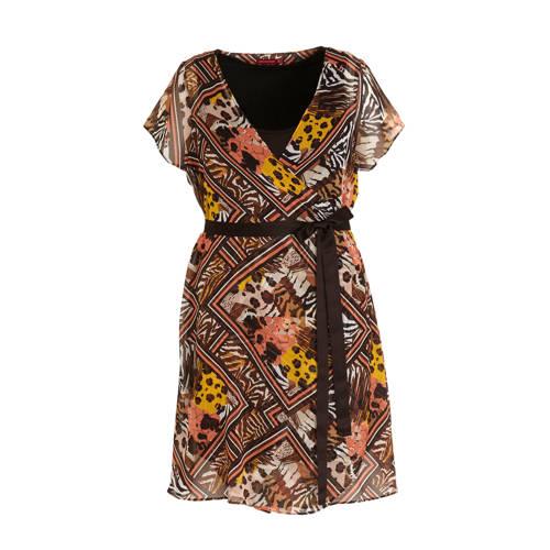 morethanangels jurk met all over print en ceintuur