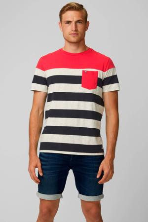 gestreept T-shirt Pktgms rood