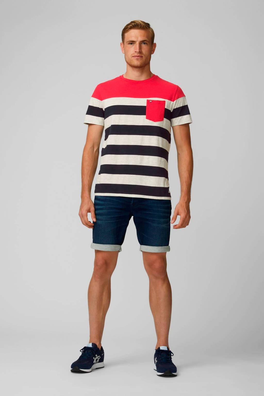 PRODUKT gestreept T-shirt Pktgms rood, Rood