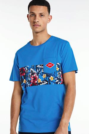 T-shirt Pktgms met printopdruk blauw
