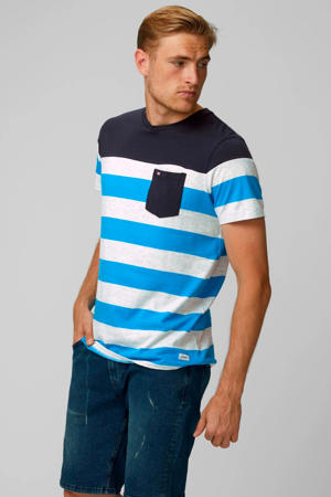 gestreept T-shirt Pktgms blauw