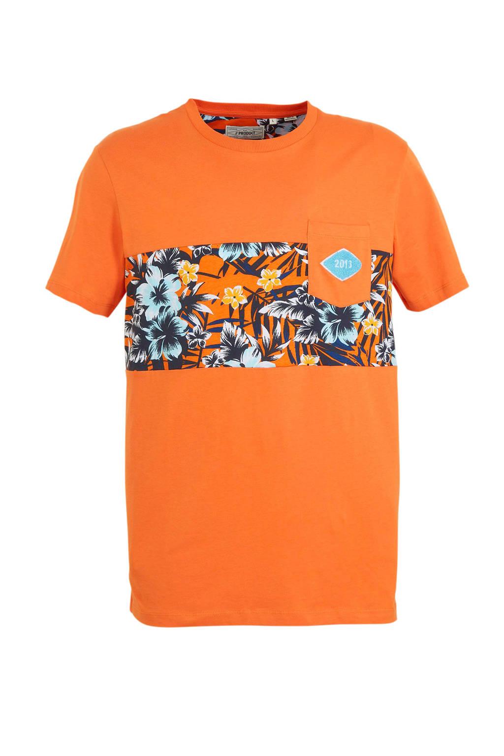 PRODUKT T-shirt Pktgms met printopdruk oranje, Oranje