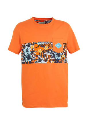 T-shirt Pktgms met printopdruk oranje