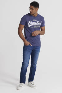 Superdry T-shirt met printopdruk paars, Paars