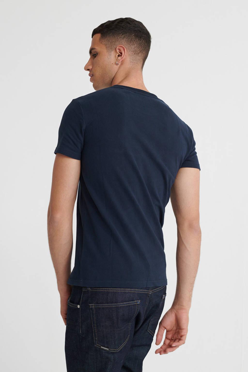 Superdry T-shirt met printopdruk donkerblauw, Donkerblauw