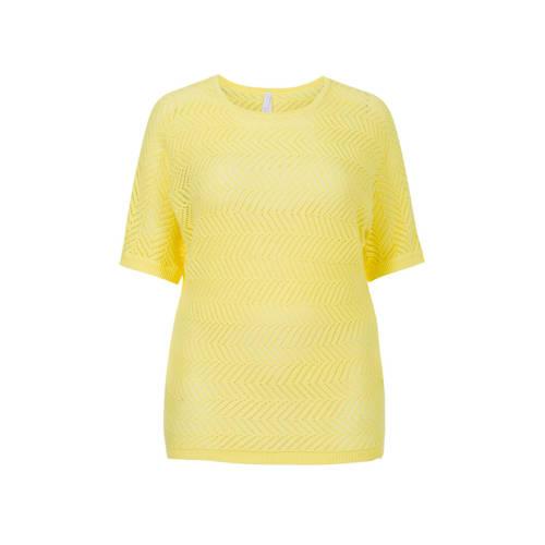 Miss Etam Plus top geel