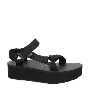 Flatform Universal  plateau sandalen zwart
