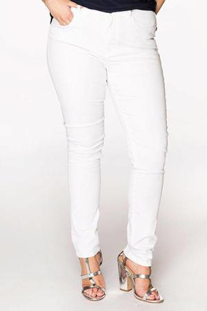 high waist skinny jeans wit