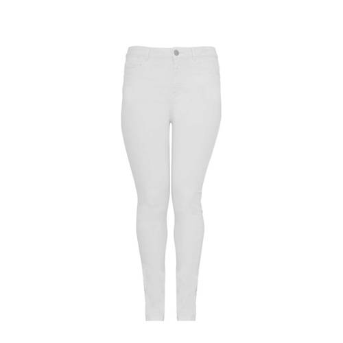 Yoek high waist slim fit jeans wit