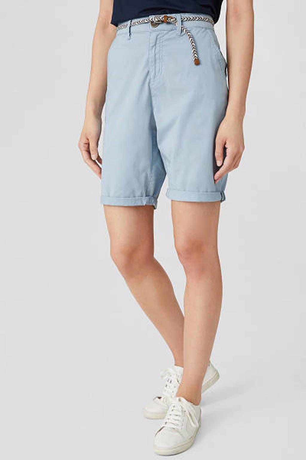 C&A Yessica straight fit bermuda donkerblauw, Donkerblauw