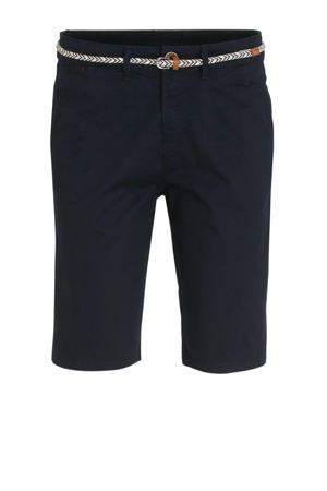 straight fit bermuda donkerblauw