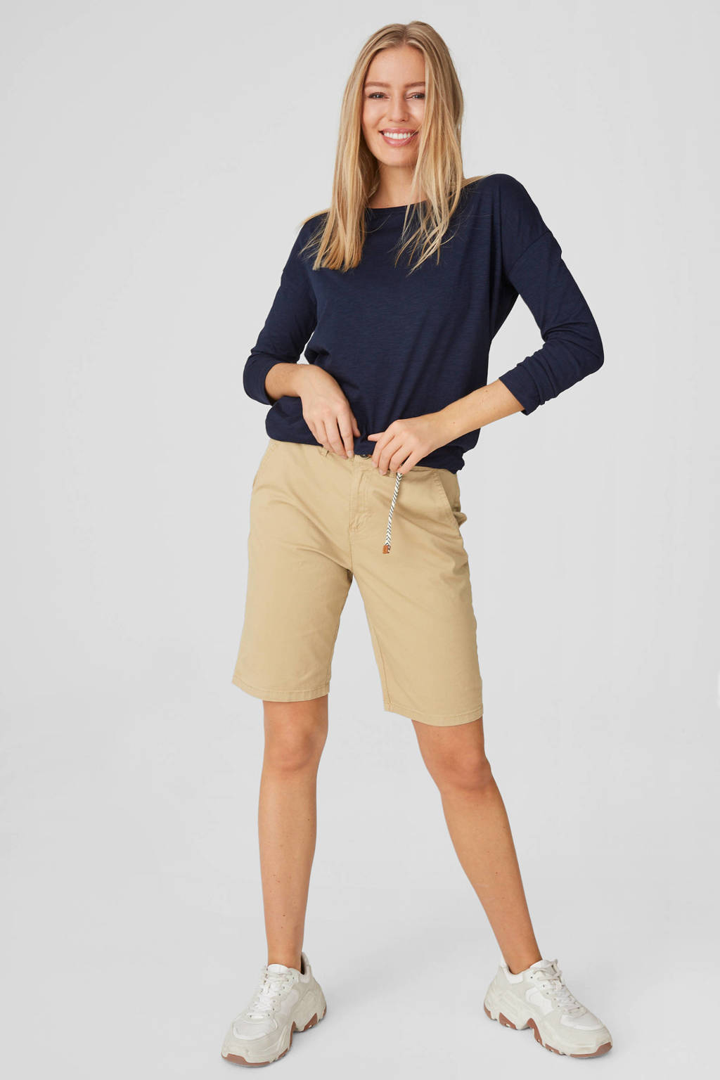 C&A Yessica straight fit bermuda camel, Camel