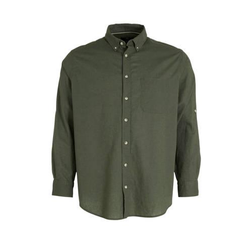 C&A XL Canda regular fit overhemd met linnen o