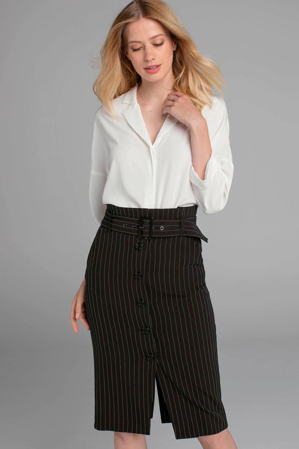 Claudia Sträter blouse met zijde wit, Wit