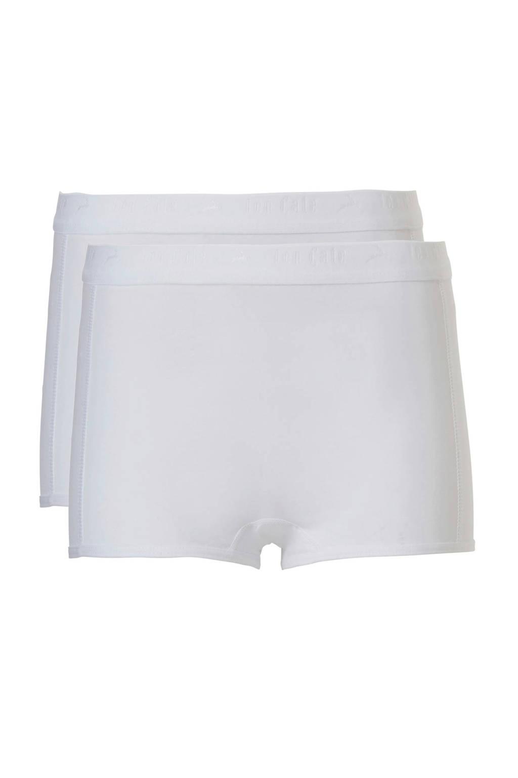 ten Cate Basic teens short - set van 2 wit, Wit