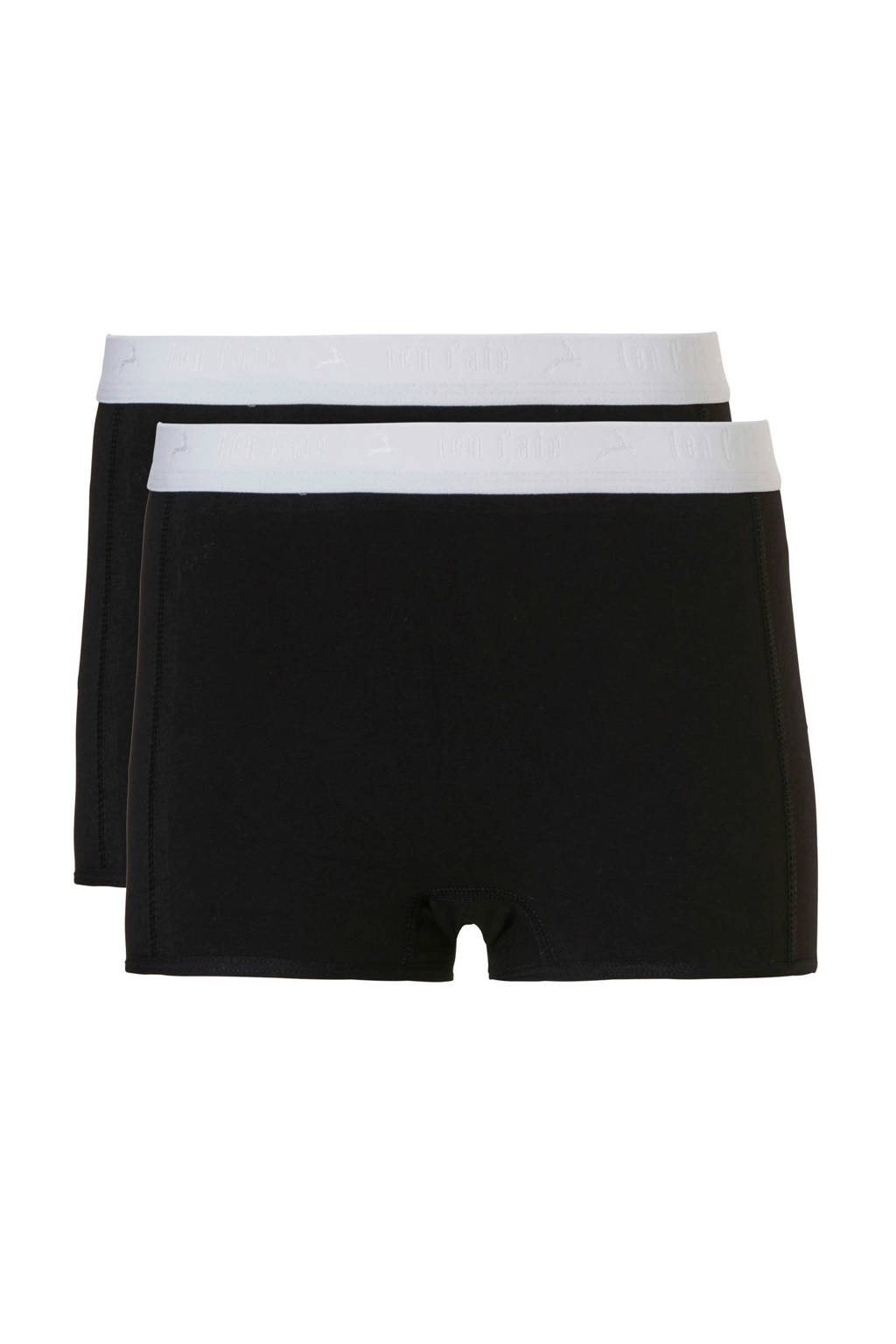 ten Cate Basic teens short - set van 2 zwart, Zwart
