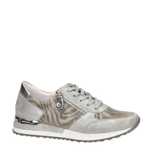 Remonte leren sneakers zilver/zebraprint