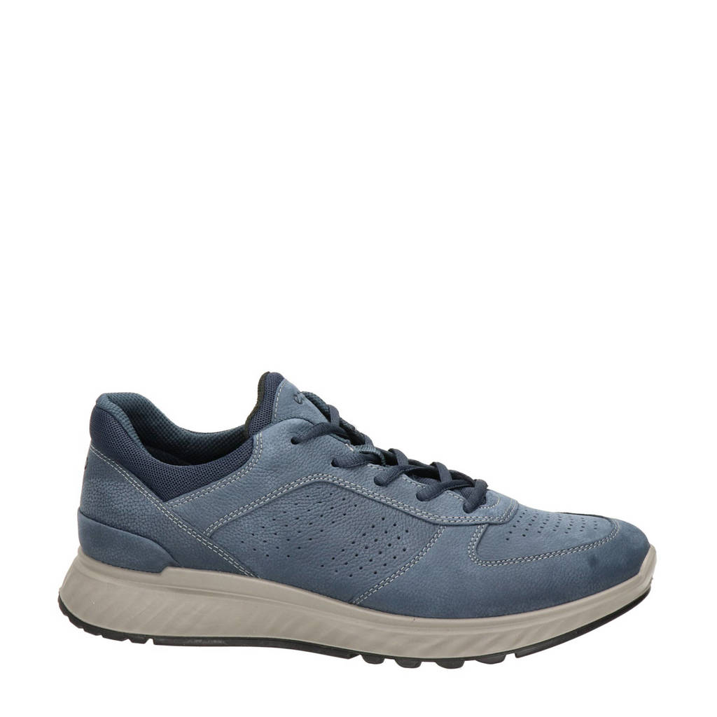 Ecco Exostride  nubuck sneakers blauw, Blauw