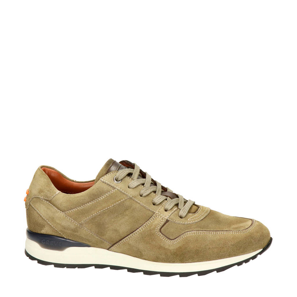 Greve   nubuck sneakers taupe, Taupe