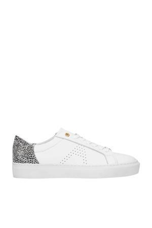 leren sneakers wit/cheetahprint