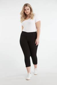 MS Mode cropped high waist skinny tregging zwart, Zwart