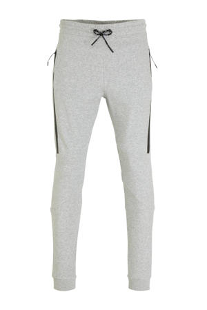 slim fit joggingbroek lichtgrijs